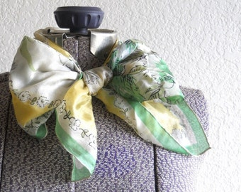 vintage light silk scarf