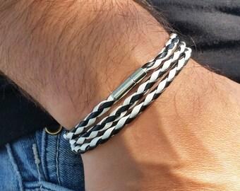 Men Leather Bracelet, Mens Bracelet, Leather Bracelet, Wrap Leather Bracelet, Bracelet for Men, Men's Leather Bracelet, Gift for Men