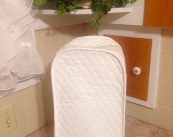 White Blender Cover White Kitchen Quilted Fabric Small Appliance Covers Made To Order