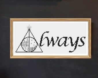 Harry Potter Always Cross Stitch Pattern | Harry Potter cross stitch | modern cross stitch | PDF pattern | instant download