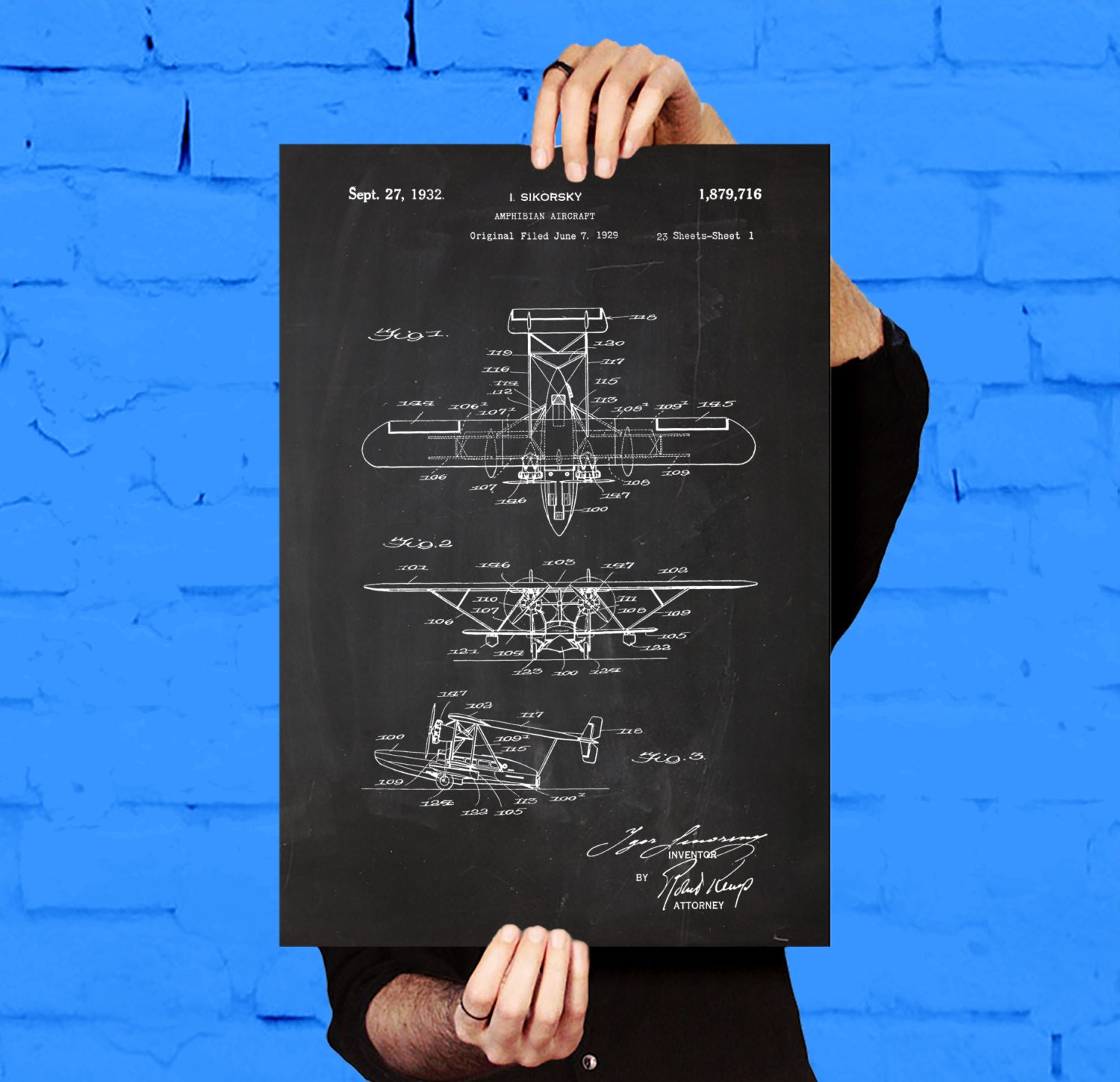 Sea plane patent sea plane poster sea plane blueprint sea zoom malvernweather Gallery