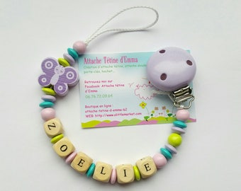 Lilac Butterfly pacifier