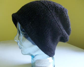 Pure wool slouchy hat