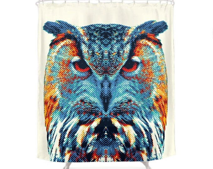 Owl Shower Curtain - Colorful Animals