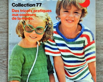 Knit 3 Suisses children 6 - 77 Collection (Vintage) magazine