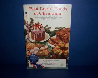 Vintage Christmas Cook Booklet, Pillsbury Best of the Bake-Off, Christmas Recipes