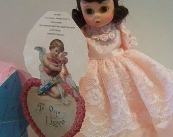 I love You dk hair Madame Alexander 8 in doll in pink dress mintw card