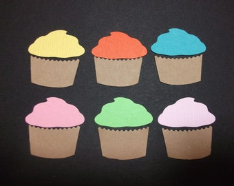 """Cupcake Die Cuts-Hand Punched 1"""""""