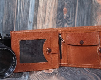 Men Wallet Leather,leather wallet,ID leather walle,gift idea for him and her