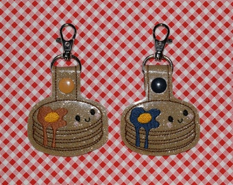Pancake with Syrup Keychain/ Snap Tab