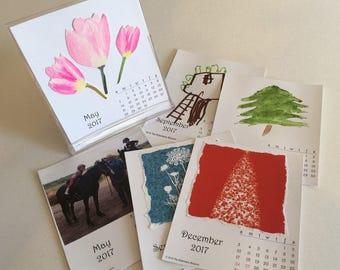 2018 DIY Create Your Own Desktop Desk Calendar PDF  Gift Printable Download