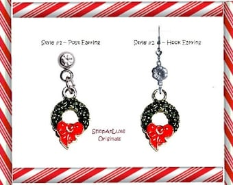 Christmas Tree Dangle Earrings - Available In Two Styles