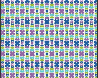 Kitchenette Blueberry, Color Me Retro by Jeni Baker for Art Gallery Fabrics 1 Yard Cut