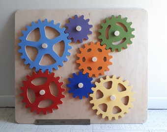 Sprockets toddler toy, rainbow sprockets, toddler busy board