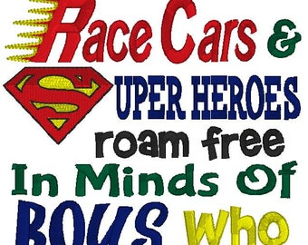 Dinosaurs Race Cars & Super Heroes Reading Pillow Verse