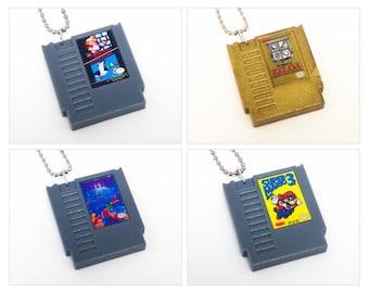 Various Classic Nintendo NES Cartridge Keychains