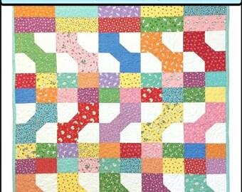PDF Quilt Pattern Saria's Toybox Baby Quilt Carlene Westberg Designs