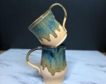 Handmade Pottery Mug - Drip Glaze Unique Ceramic Mug