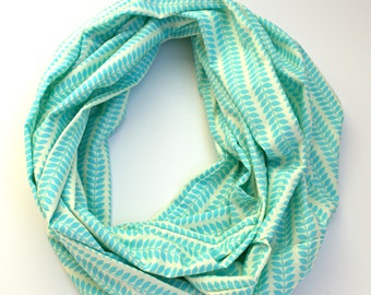 Monogrammable Aqua Leaf Design Infinity Scarf, Only store to offer these!