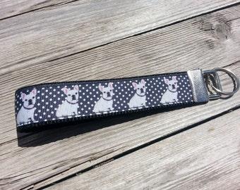 French Bulldog Polka-Dot | Key Fob | Keychain | Wristlet | Dog | Puppy | Dog Lover | Polka-dots