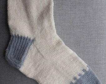Soft handmade wool socks