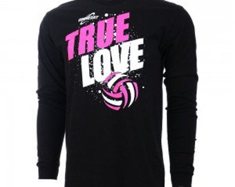 True Love Volleyball Long Sleeve T-Shirt, Volleyball Shirts, Volleyball Gift - 2 Colors, Free Shipping!