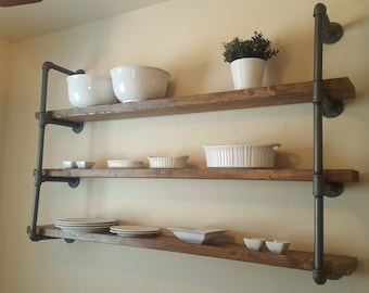 "Large Open Pipe Shelving with 60"" shelves, Industrial Shelving"