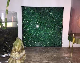 glitter resin art