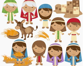 bible clipart christian religious clip art digital - Ruth and Naomi Digital Clipart - BUY 2 GET 2 FREE