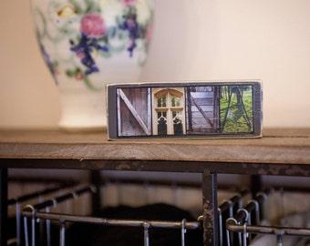 Nana Wood Sign - Nana Mini Sign - Nana Home Decoration - Alphabet Photography - Mini Sign - Grandma Block Sign - Grandma Gift - Nana Gift