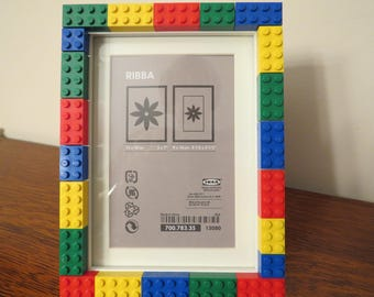 LEGO frames! What cuter way to display photos of your little Lego builder than surrounded by the bricks s/he loves!