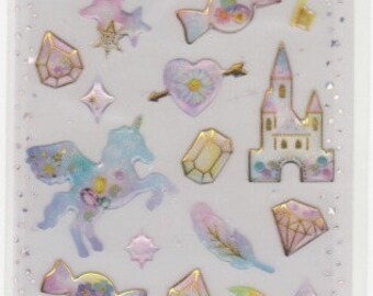 Unicorn Stickers - Magical Stickers - Raised Stickers - Reference A4690