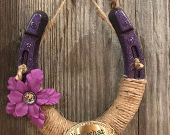 Live What You Love Horseshoe-Good luck-Cowgirl-Rodeo-Barn decor-Horse-Gifts-Equestrian-Rustic-Country-Farm