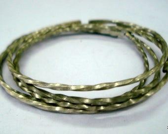 vintage antique ethnic tribal old silver bangle bracelet cuff set 5pc