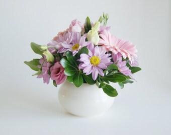 Porcelain Vase White Pottery Vase Handmade Vase White Vase Ceramic Vase