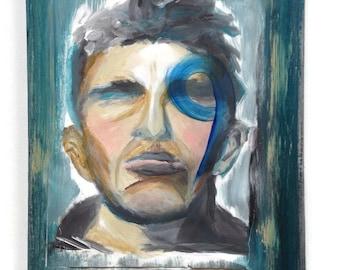"""Original James Dean portrait """"JIMM9"""""""