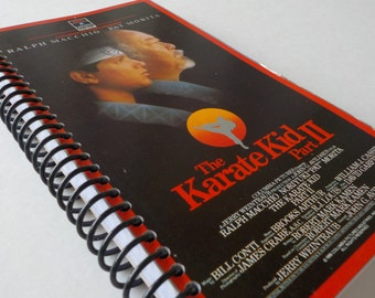 VHS Notebook, 4.00 X 7.50, 90 pages, VHS Video Box, Upcycled Notebook, Blank Book, Sketch Pad, Drawing, Writing Pad, Karate Kid II