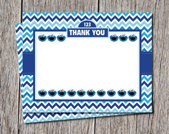 Cookie Monster Thank You Cards