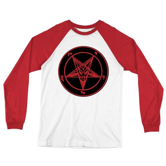 Sigil of Baphomet Long Sleeve Baseball T-Shirt