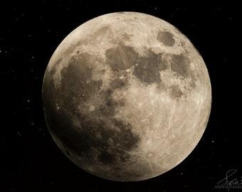 Moon print, full moon, supermoon, moon picture, astronomy, fine art photography, framed print, huge print, oversized, 8x12,16x24,24x36,32x48