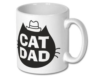 Cat Dad Mug, Cat Lover Mug, Custom Cat Mug, Cat Lover Gift, Cat Dad Gift, Crazy Cat Lady, Cat Mug, Cat Gift, Personalized MUG