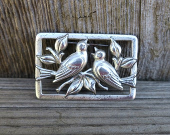 Vintage Norseland By Coro 925 Sterling Silver Bird Pin