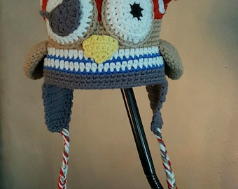 fleece lined pirate OWL Hat