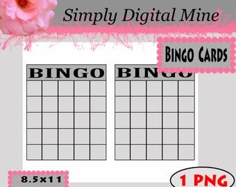 YOU Design!!! Bingo card Template !!