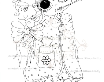 INSTANT DOWNLOAD Digital Digi Stamps Big Eye Big Head Dolls Digi  IMG774 2 By Sherri Baldy