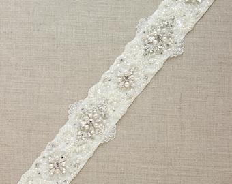 Crystal Bridal belt, Pearl Wedding sash belt, Lace Bridal dress belt, wide wedding sashes belts, Ivory Lace belt, Crystal wedding sash