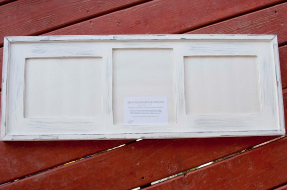 Collage Picture Frame - MULTI 3 Opening 8x10 distressed collage ...