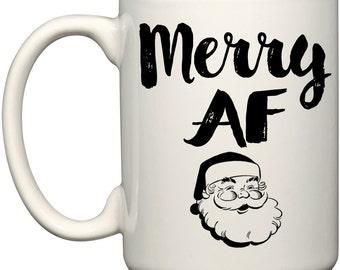 Merry AF Santa Coffee Mug