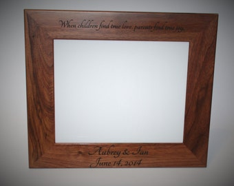 5x7 Laser Engraved Walnut Wooden Picture Frame, Custom picture frame, personalized picture frame 5x7