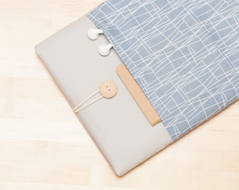 Laptop sleeve 13 inch, Macbook Pro case  / Macbook Air 13 sleeve, 13 inch  laptop case,   - Web grey ash